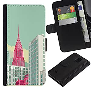 KingStore / Leather Etui en cuir / Samsung Galaxy S5 Mini, SM-G800 / ;