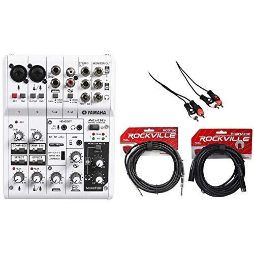 Package: Yamaha AG06 Portable USB Powered 6 Channel Portable