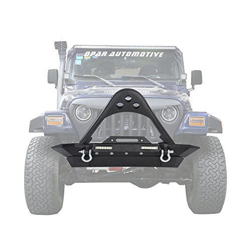 Jeep Wrangler Front Bumper w/ LED Lighting for 1987-2006 Jeep Wrangler TJ & YJ – Stinger