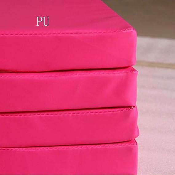 GUORRUI-Turnmatten Weichbodenmatte Zuhause PE Perlbaumwolle Weich Yoga Matte Multifunktion Draussen Wasserdicht Isomatte 4 Panel 2 Arten Von Liner Color : Pink, Size : 100x100x5cm