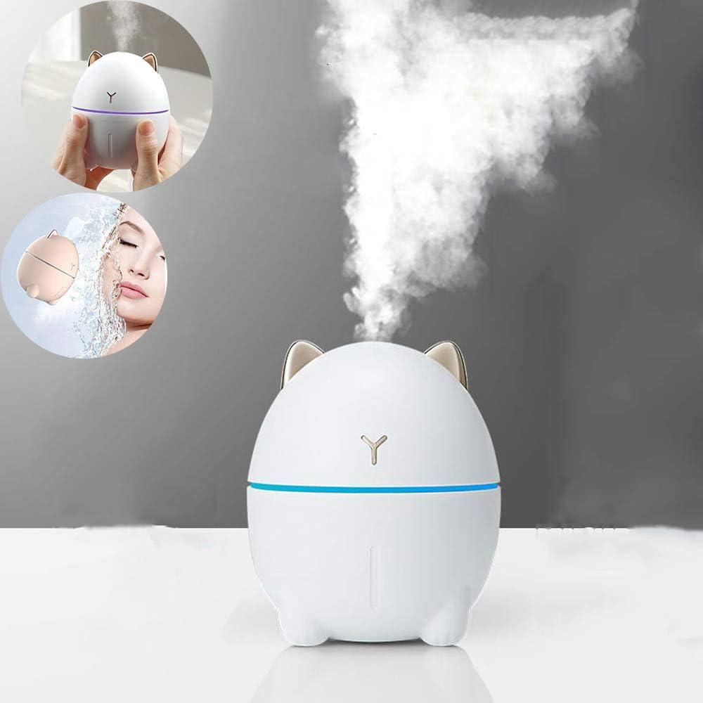 Yoga Oficina Viaje en Coche Mini Viel Auto Humidificador 320 ml 7 colores LED Auto Apagado Sin Agua Para Baby Room Dormitorio USB Humidificador Purificador de Aire Silencioso