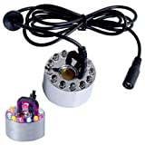 Mist Maker Fogger Replacement Mister with 12 LED Lights by joieshow