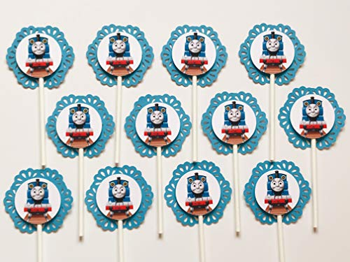 12 THOMAS TRAIN and FRIENDS Cupcake Topper - Party Picks]()
