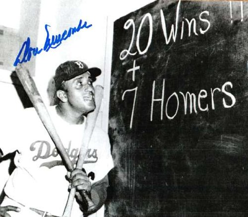 Brooklyn Dodgers Autographed Photo - Autographed Don Newcombe Brooklyn Dodgers Photo