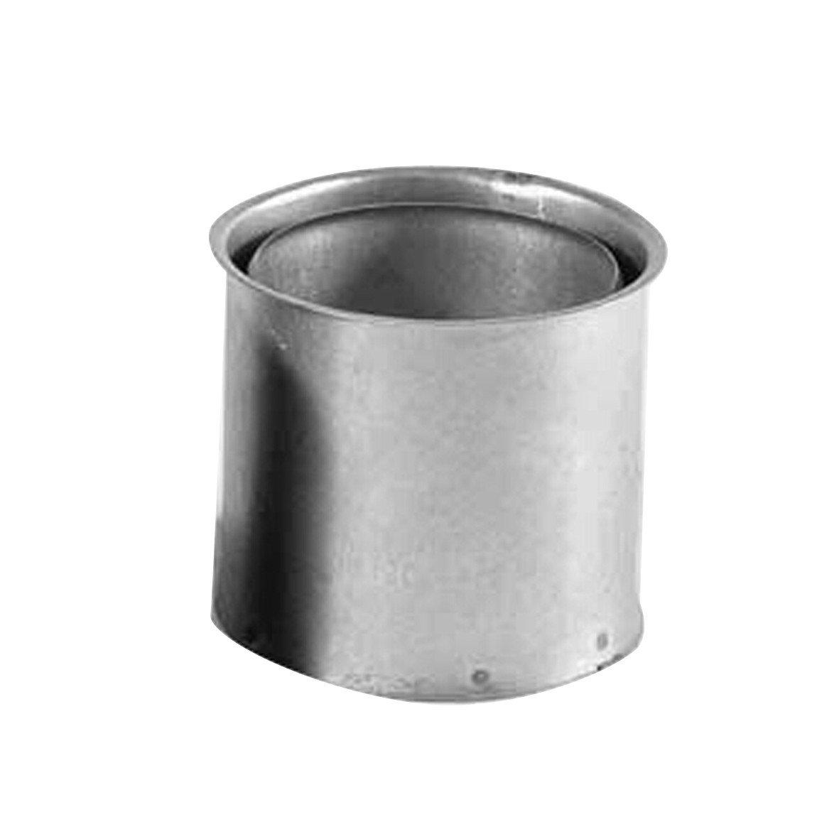 Kamino - Flam - Tubo para chimenea (Ø 150 mm/altura 120 mm), Tubos para estufa de leña, Conducto de humos, Tubo doble pared - acero resistente a altas ...