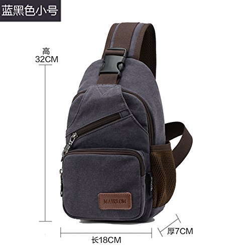 Battier Chest 2019 Canvas sportive Nero Nero Messenger Uomo New Tasche Bag Blu Bag Sport EwwdTq