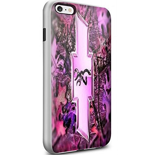 Logo with a Deer on the Inside Pink for Iphone and Samsung Galaxy (iPhone 6 Plus / 6s Plus white)