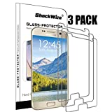 Samsung Galaxy S7 Ballistic Screen Protector ShockWize [3 Pack] [Tempered Glass] [Case Friendly NOT Edge to Edge] Premium Real Glass Screen Protector Galaxy S7
