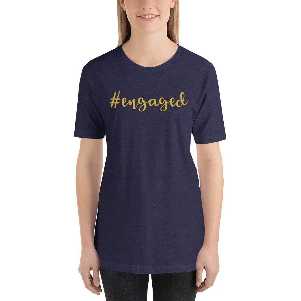 Alpha5StarDeals Engagement #Engaged Wedding Short-Sleeve Unisex T-Shirt