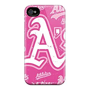Bivillegas Scratch-free Phone Case For Iphone 4/4s- Retail Packaging - Oakland Athletics