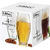 Libbey Football Tumbler 4 Piece Beer Glass Set, 23 Ounce - 16 per case.