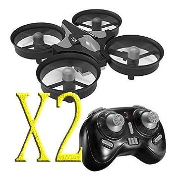 trecce 2 Unidades H36 Mini Drone 2.4G 4Canales 6 Ejes Radio ...