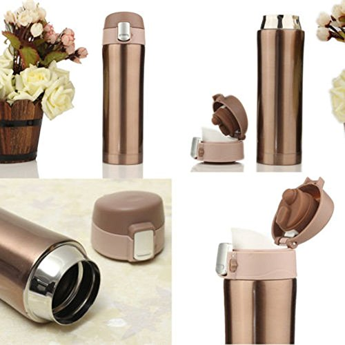 350ML500ML Stainless Steel Travel Mug Water Vacuum Flask Thermal Cup Bottle