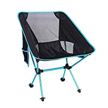 Ultralight Folding Chairs Portable for Outdoors with Carry Bag Heavy Duty 300lbs Capacity Foldable Chairs(Weight: 2lbs,blue)