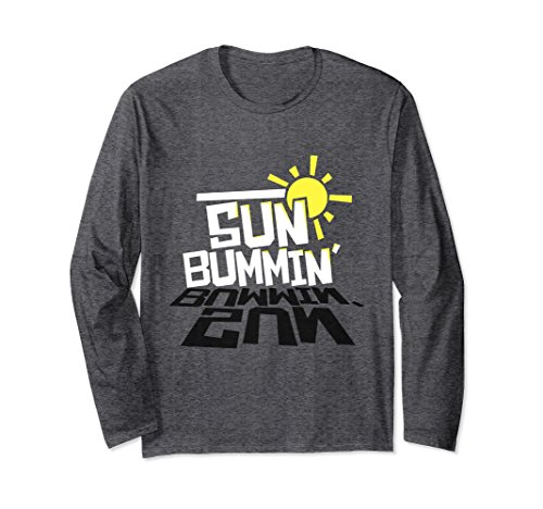 Unisex Sun Bummin Sunny Summer Australian Beach Long-Sleeve Small Dark - Sunnies Australian