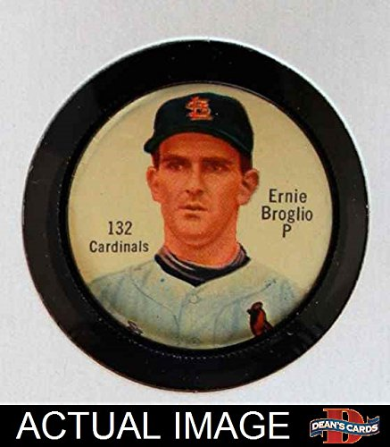 1962 Salada Coins # 132 Ernie Broglio St. Louis Cardinals (Baseball Card) Dean's Cards 5 - EX Cardinals