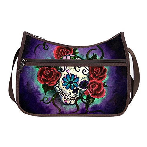 Classic Everyday Hobo (Women Female Classic Everyday Hobo Bag Hobo Shoulder Bags with Sugar Skull Girl Print.)