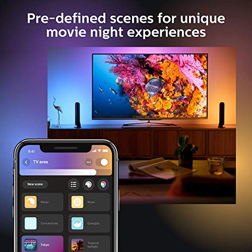 Philips - Hue Play White & Color Ambiance Smart LED Bar Light - Black (Double Pack) (Renewed) by Philips Hue (Image #6)