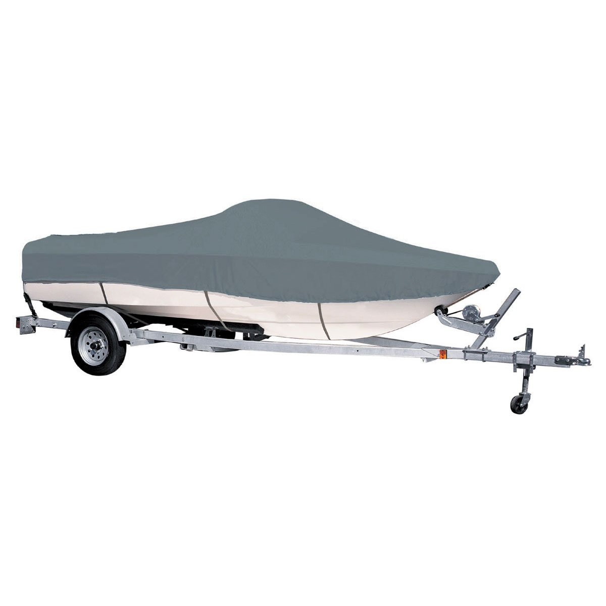 Coverandcarry Green Heavy Duty Polyester Backed Waterproof Speedboat Boat Cover