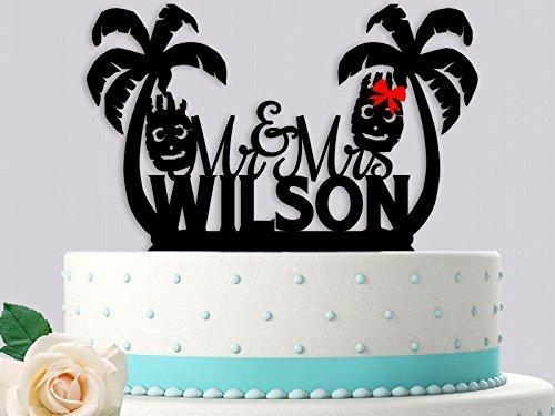 Mr And Mrs Wilson Cast Away Inspired Wedding Cake Topper
