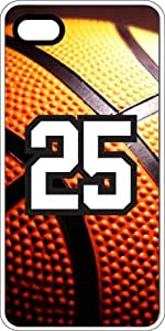 Basketball Sports Fan Player Number 24 Clear Rubber Decorative iPhone 4/4s Case