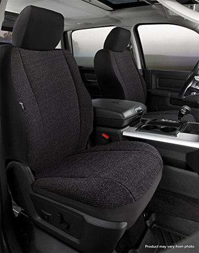 FIA TRS49-43 Custom Fit Cover, Front Bucket Seats-Saddle Blanket, (Solid Black) (Best Seat Covers For Toyota Tacoma)