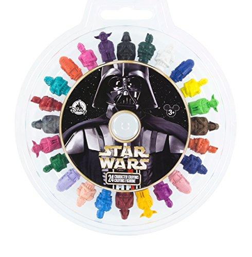Disney Parks Star Wars Character Figurine Crayon Set of 24 Crayons Yoda R2D2 etc