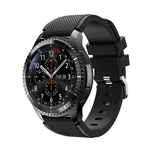 Sunface Bands for Gear S3 Frontier / Classic Watch Silicone Bracelet, Sports Silicone Band Strap Replacement Wristband For Samsung Gear S3 Frontier / S3 Classic