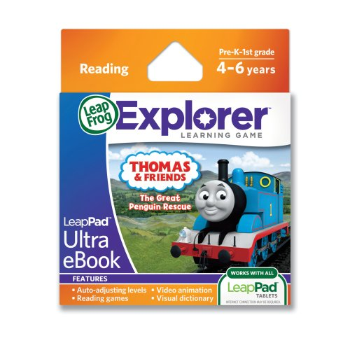 LeapFrog LeapPad Ultra eBook Adventure Builder: Thomas and Friends: The Great Penguin Rescue (works with all LeapPad - Cartridge Penguin