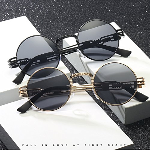 Dollger 2 Pack John Lennon Round Sunglasses Steampunk Metal Frame Mirror - For Shades Sale
