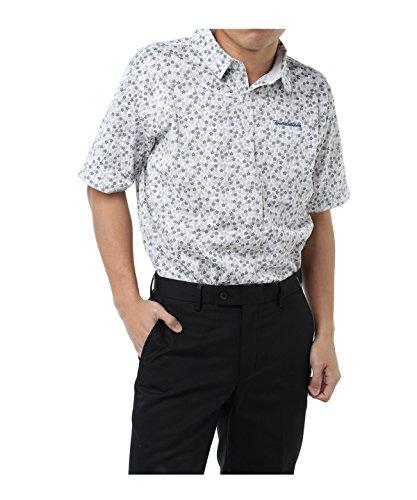 ツアーディビジョン メンズ ゴルフウェア ポロシャツ 半袖 小花プリント半袖Tシャツ TD220101H05 GY O