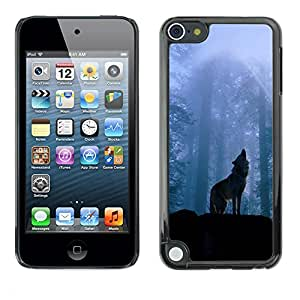 Design for Girls Plastic Cover Case FOR Apple iPod Touch 5 Nature Howling Wolf OBBA