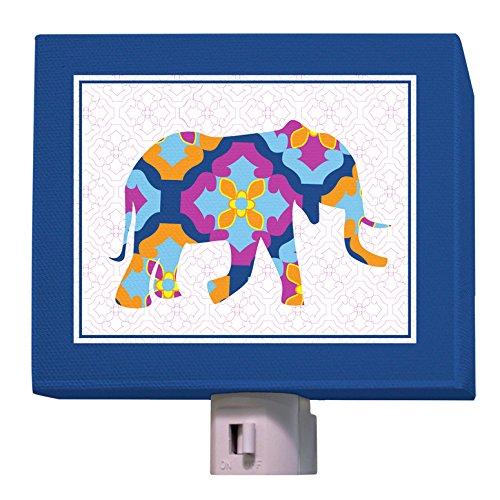 Oopsy Daisy A to Z Animal Prints Night Light, Elephant, 5