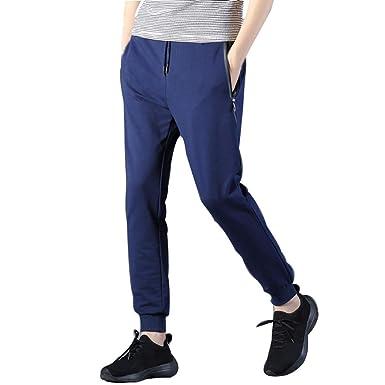 Moda Color Sólido Pantalones Deportivos para Hombre Pantalones ...