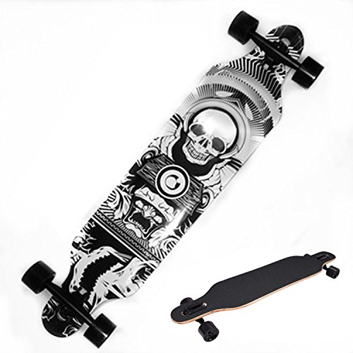 Best Deals! Ancheer 41 Longboard Dancing Road Downhill Professional Speed Wood Complete Long Skateb...