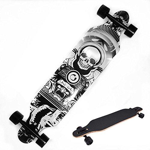 Best Deals! Ancheer 41 Longboard Dancing Road Downhill Professional Speed Wood Complete Long Skateb...