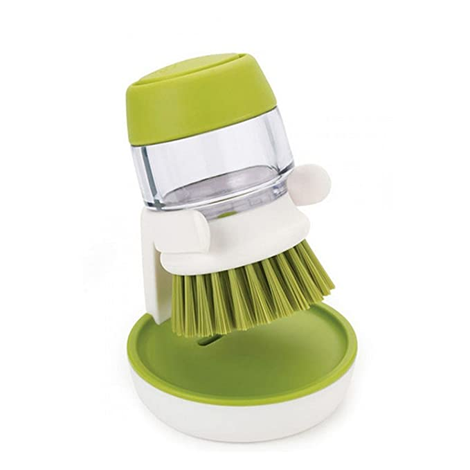 nikgic cepillo de mano cepillo Lavaplatos lavavajillas Rinse cepillo con dispensador de detergente lavavajillas cepillo dispensador de detergente limpieza ...