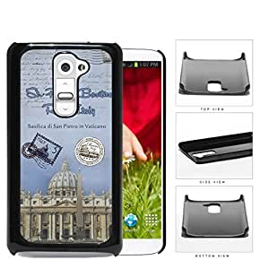 The Vatican Postcard Rome Italy Hard Plastic Snap On Cell Phone Case LG G2