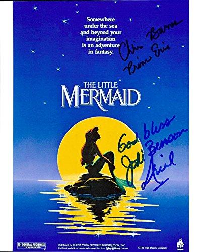 The Little Mermaid (Jodi Benson & Christopher Daniel Barnes) signed 8x10 photo (Mermaid Signed)