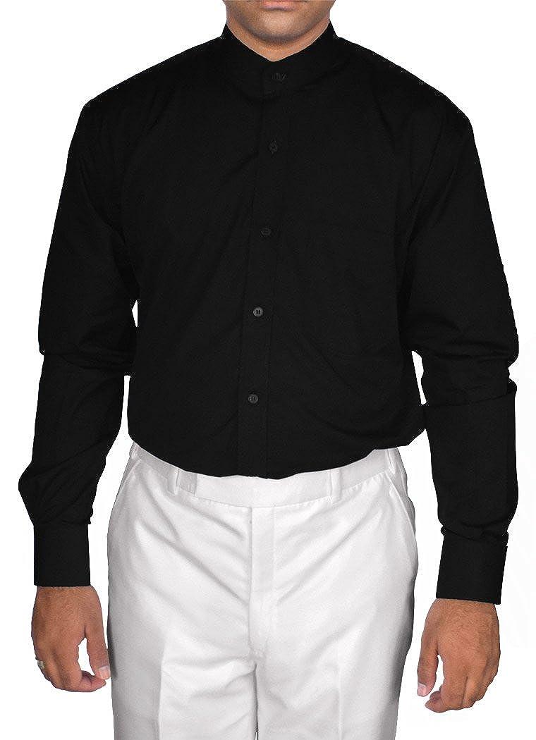 Inmonarch Mens Black Cotton Nehru Collar Shirt Long Sleeve Nsh07 At
