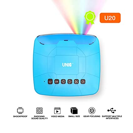 Amazon.com: Mini proyector LED QianHui UNIC U20 para niños ...