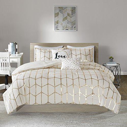 (Intelligent Design Raina Comforter Set, King/Cal King, Ivory/Gold)
