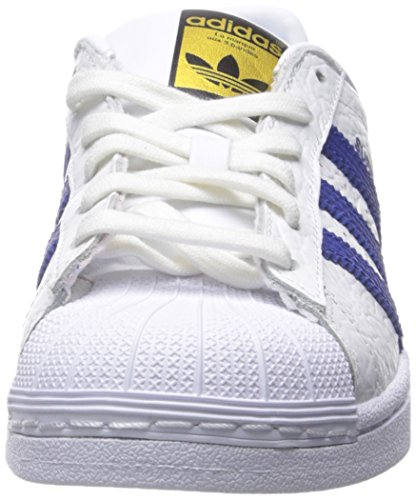 Adidas Heren Superster Dier Fashion Sneaker Wit / Collegiale Royal / Goud
