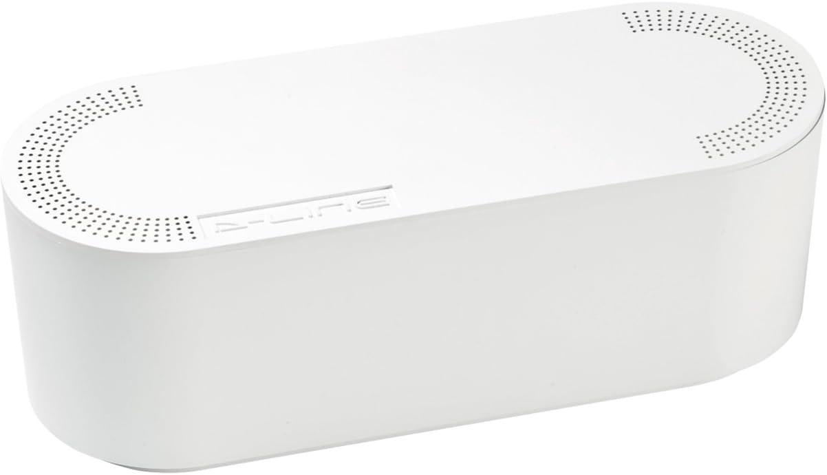 D-Line EU/CTUSMLW/SW - Caja Organizadora de Cables, Blanco, Pequeña