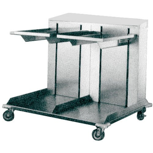 APW Wyott CTRD-1014 Cantilever Style Dual Shelf Mobile Lowerator Tray Dispenser by APW Wyott