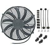 "American Volt Single 14"" Inch Electric Fan 12v Automotive Radiator Cooling 90w Motor 2000 Cfm"