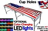 8-Foot Professional Beer Pong Table w/ Cup Holes - America Edition