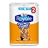 Royale Tiger Towel, 2 Regular Rolls, 55 Sheets Per Roll 2-ply Tiger Strong Paper Towels, Handy Half Sheets