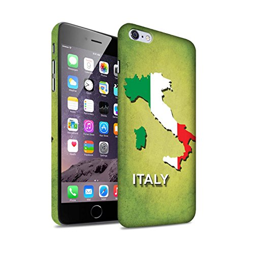 STUFF4 Matte Hard Back Snap-On Phone Case for Apple iPhone 6+/Plus 5.5 / Italy/Italian Design / Flag Nations Collection (Italian Flag Iphone 6 Plus compare prices)
