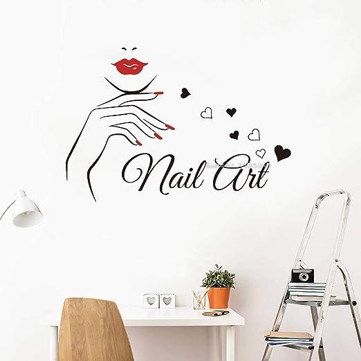 Ajcwhml Decoración de uñas de Color en el salón de Belleza de Dos ...